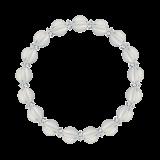 縁(8mm)白露色水晶・クォーツブレスレット