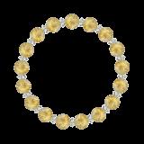 縁(8mm)黄金色ルチルクォーツ・水晶(クォーツ)ブレスレット