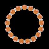 縁(8mm)橙色サードオニキス・水晶(クォーツ)ブレスレット