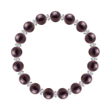 縁(8mm)紫紺色スギライト・水晶(クォーツ)ブレスレット