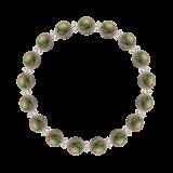 縁(8mm)草色ユナカイト・水晶(クォーツ)ブレスレット