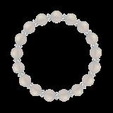 縁(8mm)卯の花色ホワイトオニキス・水晶(クォーツ)ブレスレット