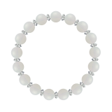 縁(8mm)練色ホワイトオパール・水晶(クォーツ)ブレスレット