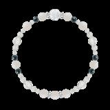 花かずら(6mm)才能と魅力を引き出すホワイトオパール・クリソコラ・水晶(クォーツ)ブレスレット