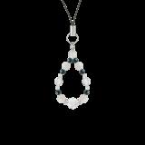 花かずら(6mm)才能と魅力を引き出すホワイトオパール・クリソコラ・水晶(クォーツ)ストラップ