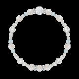 花かずら(6mm)愛される資質を養うホワイトオパール・ブルートパーズ・水晶(クォーツ)ブレスレット