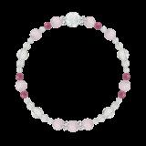 花かずら(6mm)愛情と優しさを育むクンツァイト・ピンクトルマリン・水晶(クォーツ)ブレスレット
