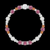 花かずら(6mm)強い忍耐力をもたらすピンクトルマリン・カーネリアン・水晶(クォーツ)ブレスレット