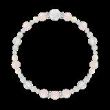 花かずら(6mm)幸福な恋愛へと導くローズクォーツ・ホワイトコーラル・水晶(クォーツ)ブレスレット
