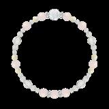 花かずら(6mm)愛情と優しさを授けるローズクォーツ・マザーオブパール・水晶(クォーツ)ブレスレット