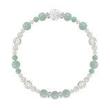 花かずら(6mm)青磁色アマゾナイト・水晶(クォーツ)ブレスレット
