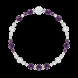 花かずら(6mm)紫色アメジスト・水晶(クォーツ)ブレスレット