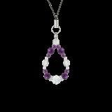 花かずら(6mm)紫色アメジスト・水晶(クォーツ)ストラップ