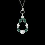 花かずら(6mm)緑青色アズロマラカイト・水晶(クォーツ)ストラップ