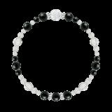 花かずら(6mm)漆黒色ブラックトルマリン・水晶(クォーツ)ブレスレット
