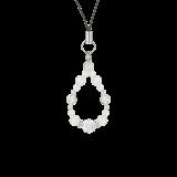 花かずら(6mm)月白色ブルームーンストーン・水晶(クォーツ)ストラップ
