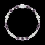 花かずら(6mm)京紫色チャロアイト・水晶(クォーツ)ブレスレット