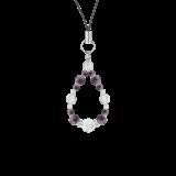 花かずら(6mm)京紫色チャロアイト・水晶(クォーツ)ストラップ