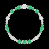 花かずら(6mm)若緑色クリソプレーズ・水晶(クォーツ)ブレスレット