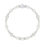 花かずら(6mm)白色フロスティクォーツ・水晶(クォーツ)ブレスレット