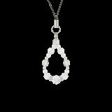 花かずら(6mm)白色フロスティクォーツ・水晶(クォーツ)ストラップ