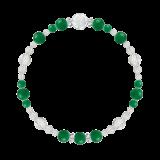 花かずら(6mm)緑色グリーンメノウ・水晶(クォーツ)ブレスレット