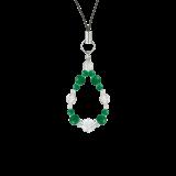 花かずら(6mm)緑色グリーンメノウ・水晶(クォーツ)ストラップ