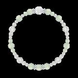 花かずら(6mm)白緑色グリーンアメジスト・水晶(クォーツ)ブレスレット