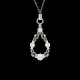 花かずら(6mm)銀鼠色ヘマタイト・水晶(クォーツ)ストラップ