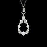 花かずら(6mm)灰白色ハウライト・水晶(クォーツ)ストラップ