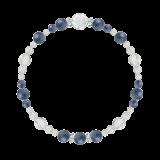 花かずら(6mm)群青色カイヤナイト・水晶(クォーツ)ブレスレット