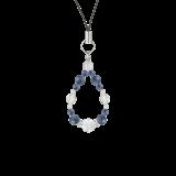 花かずら(6mm)群青色カイヤナイト・水晶(クォーツ)ストラップ