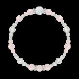 花かずら(6mm)撫子色モルガナイト・水晶(クォーツ)ブレスレット