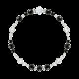 花かずら(6mm)黒色オニキス・水晶(クォーツ)ブレスレット