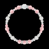 花かずら(6mm)鴇色ピンクオパール・水晶(クォーツ)ブレスレット