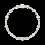 花かずら(6mm)若葉色プレナイト・水晶(クォーツ)ブレスレット