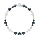 花かずら(6mm)紺青色サファイア・水晶(クォーツ)ブレスレット