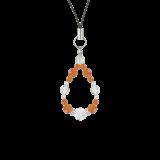 花かずら(6mm)橙色サードオニキス・水晶(クォーツ)ストラップ