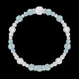 花かずら(6mm)白群色シーブルーカルセドニー・水晶(クォーツ)ブレスレット
