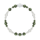 花かずら(6mm)松葉色セラフィナイト・水晶(クォーツ)ブレスレット