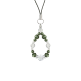 花かずら(6mm)松葉色セラフィナイト・水晶(クォーツ)ストラップ