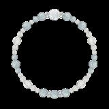花かずら(6mm)空色スカイブルーアクアマリン・水晶(クォーツ)ブレスレット