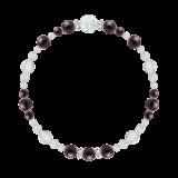花かずら(6mm)紫紺色スギライト・水晶(クォーツ)ブレスレット