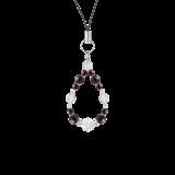 花かずら(6mm)紫紺色スギライト・水晶(クォーツ)ストラップ