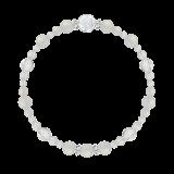花かずら(6mm)卯の花色ホワイトオニキス・水晶(クォーツ)ブレスレット