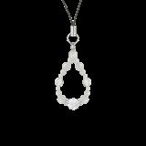 花かずら(6mm)卯の花色ホワイトオニキス・水晶(クォーツ)ストラップ