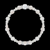 花かずら(6mm)練色ホワイトオパール・水晶(クォーツ)ブレスレット