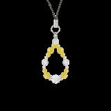 花かずら(6mm)黄色イエローメノウ・水晶(クォーツ)ストラップ