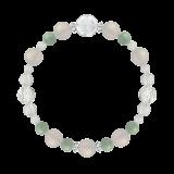 花かずら(8mm)再生する力を高めるホワイトオニキス・翡翠・水晶(クォーツ)ブレスレット