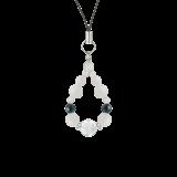 花かずら(8mm)才能と魅力を引き出すホワイトオパール・クリソコラ・水晶(クォーツ)ストラップ